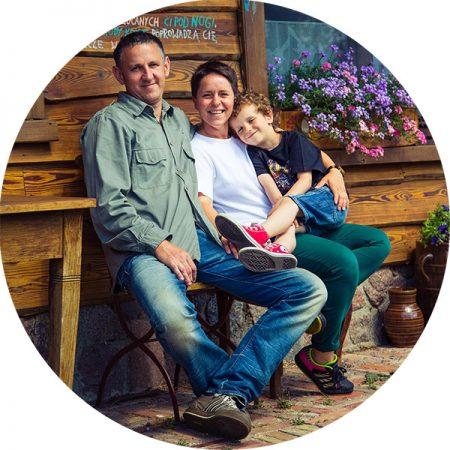 Adrianna, Piotr i Jasiek Kutelscy